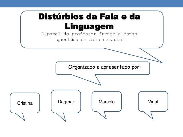 Distúrbios da Fala e da  Linguagem  O papel do professor frente a essas  questões em sala de aula  Organizado e apresentad...
