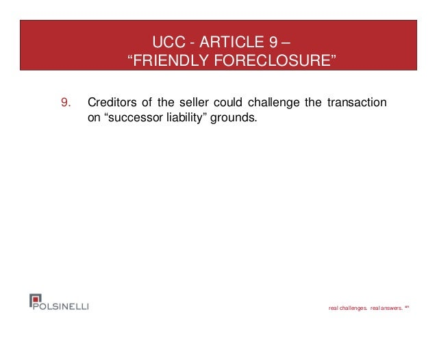 how to conduct a ucc article 9 sale