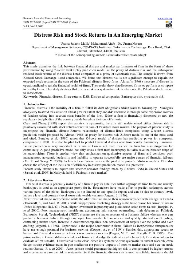 Research Journal of Finance and Accounting ISSN 2222-1697 (Paper) ISSN 2222-2847 (Online) Vol.4, No.17, 2013  www.iiste.or...