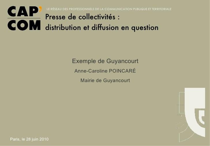 Exemple de Guyancourt Anne-Caroline POINCARÉ Mairie de Guyancourt