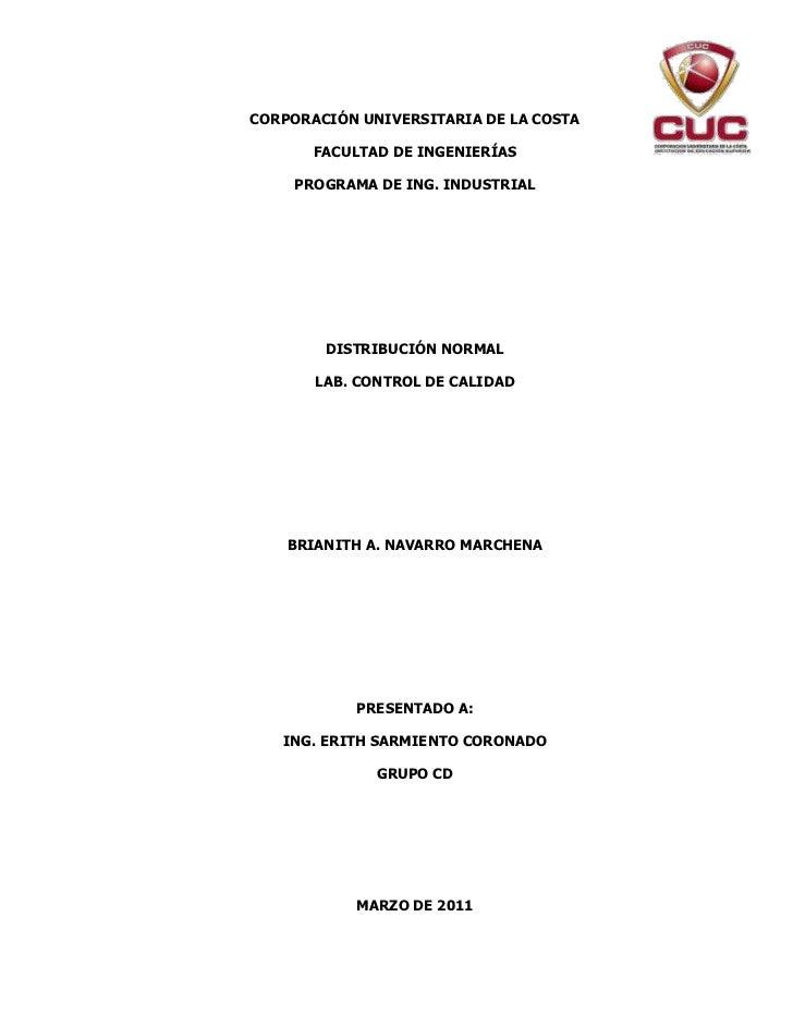 4865370-718185CORPORACIÓN UNIVERSITARIA DE LA COSTA<br />FACULTAD DE INGENIERÍAS<br />PROGRAMA DE ING. INDUSTRIAL<br />DIS...