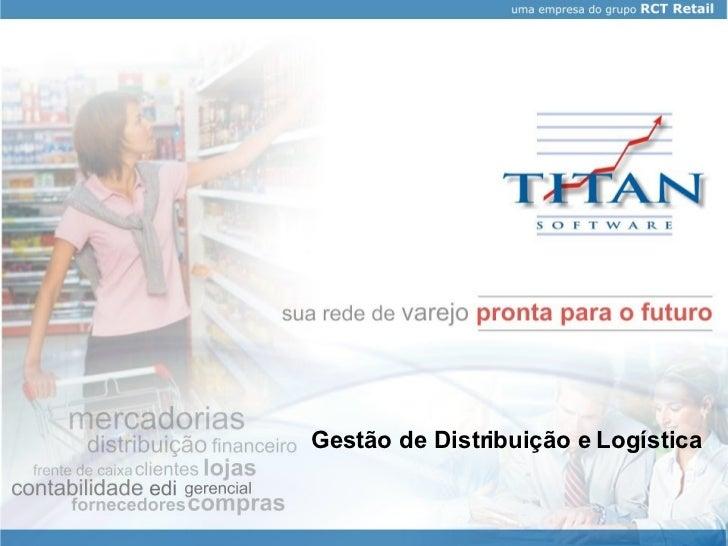 Gestão de Distribuição e Logística