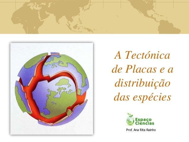 A Tectónicade Placas e a distribuiçãodas espécies   Prof. Ana Rita Rainho