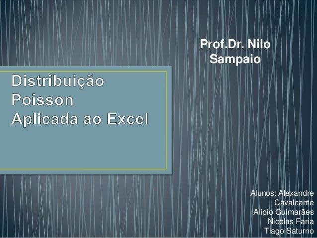 Prof.Dr. Nilo Sampaio  Alunos: Alexandre Cavalcante Alípio Guimarães Nicolas Faria Tiago Saturno