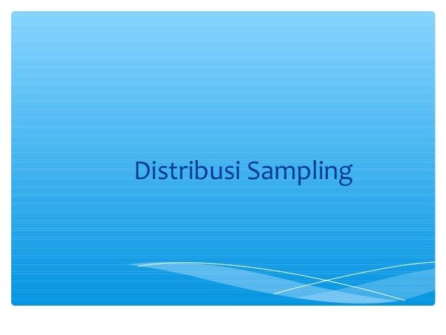 Distribusi Sampling