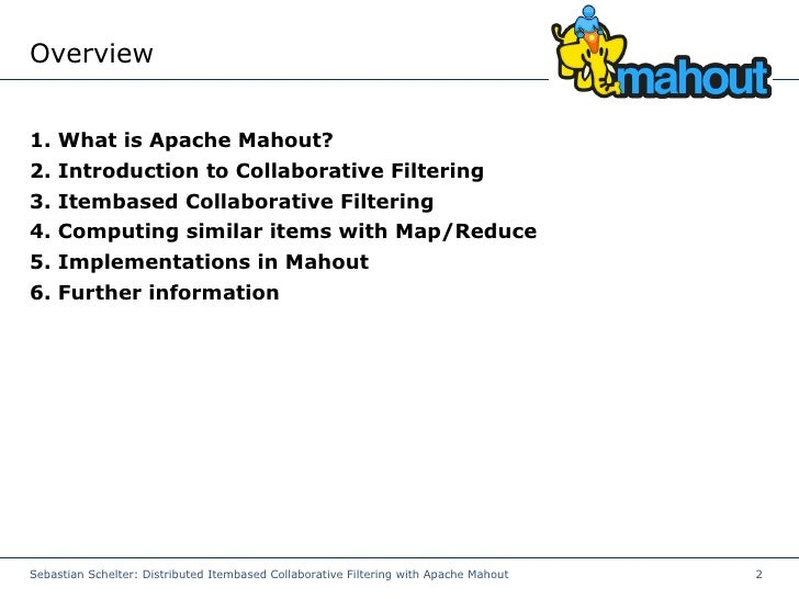 mahout-cf Slide 2