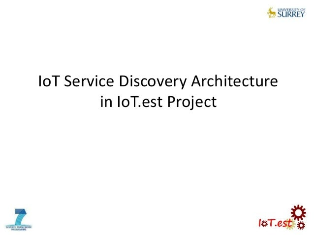 IoT Service Discovery Architecturein IoT.est Project