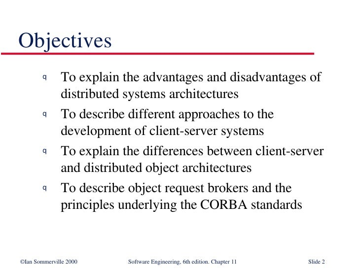 Distributed Systems Architecture in Software Engineering SE11 Slide 2