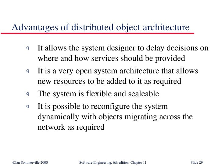 Distributed Systems Architecture In Software Engineering Se11