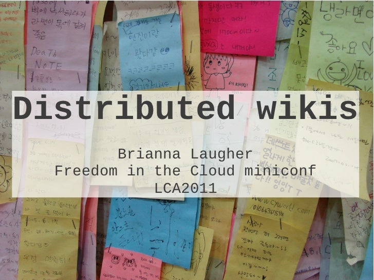 Distributed wikis