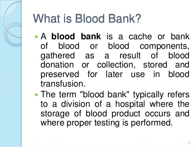blood bank management system A project about computerization of the blood bank management system.