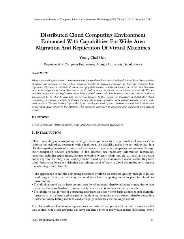 International Journal of Computer Science & Information Technology (IJCSIT) Vol 5, No 6, December 2013  Distributed Cloud ...