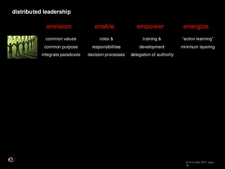 Following from the NSCL document, this slide highlights what can seem like a  dichotomy. Really these are different modes of leadership that need to be  ...