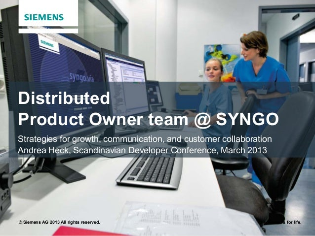 DistributedProduct Owner team @ SYNGOStrategies for growth, communication, and customer collaborationAndrea Heck, Scandina...