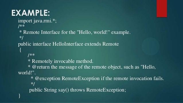 Remote Method Invocation Java Rmi
