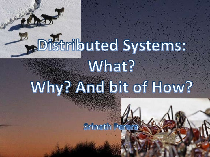 I cannot cover                                           Distributed Systems                                              ...