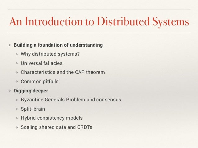 From Mainframe to Microservice: An Introduction to Distributed Systems Slide 2