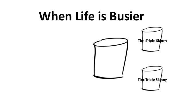 When  Life  is  Busier Tim:Triple  Skinny Tim:Triple  Skinny