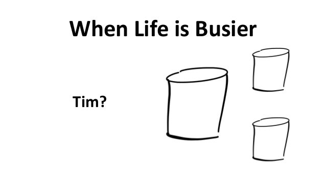 When  Life  is  Busier Tim?