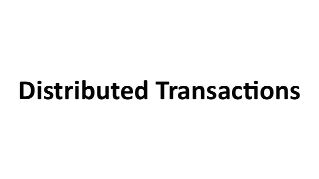 Distributed  TransacCons