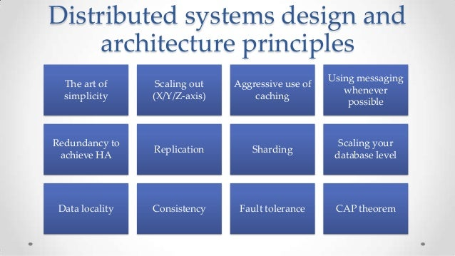 distributed systems and scalability rules