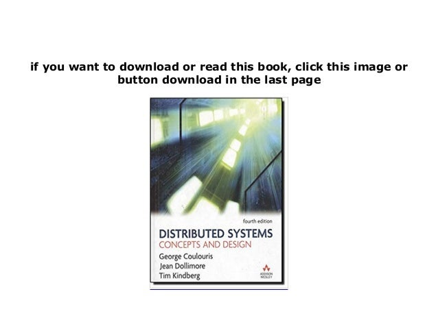 P D F Book Library Distributed Systems Concepts And Design 4th Editio