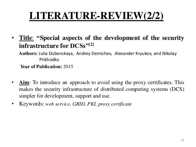 grid computing literature review