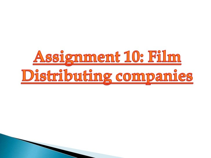 A Film Distributor –is a company or individual responsible for releasing films to thepublic either theatrically or for hom...