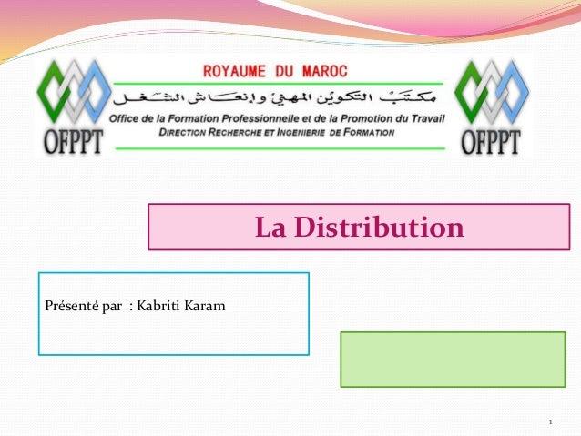 La Distribution 1 Présenté par :: Kabriti Karam