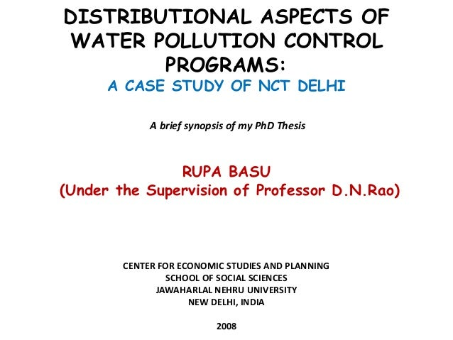 thesis on river water pollution