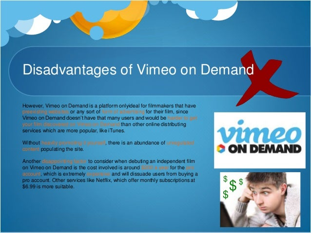 Conclusion In conclusion, I feel that the best form of online viewing platforms for my film would be Vimeo on Demand and B...