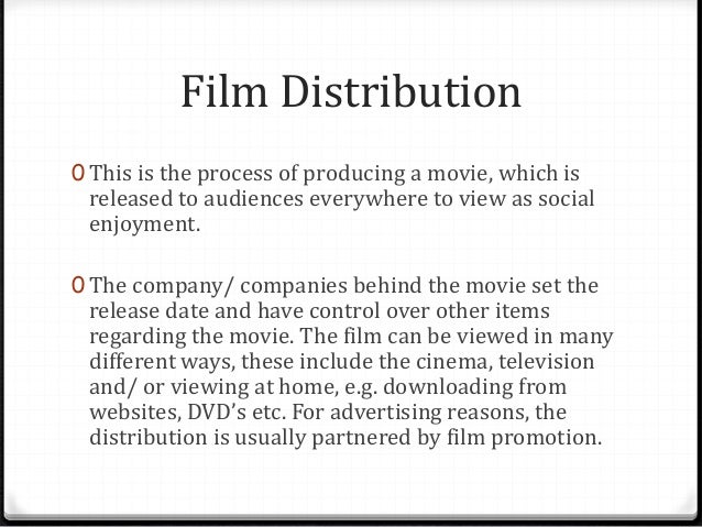 Distribution and Marketing of movie trailers Slide 3
