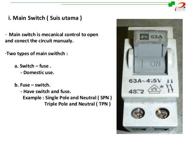 distribution board rh slideshare net Main Circuit Breaker Main Circuit Breaker