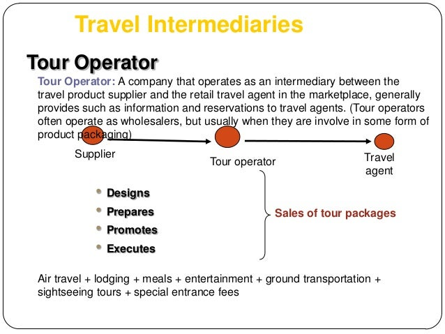 Sales and distributions of travel packages