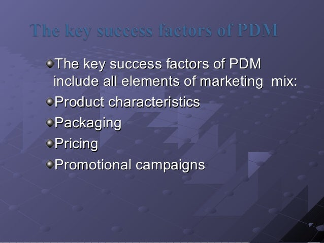 toms critical success factors and marketing mix Five critical success factors for participation in exchange markets  to best  enhance the company's overall marketing and network strategies.