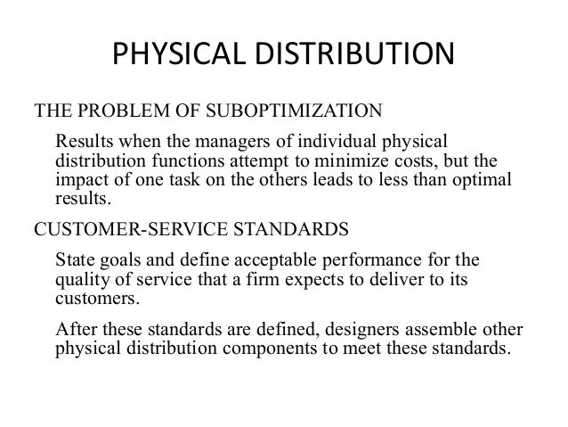 function of physical distribution management and International journal of physical distribution & logistics management international journal of physical distribution international journal of physical.