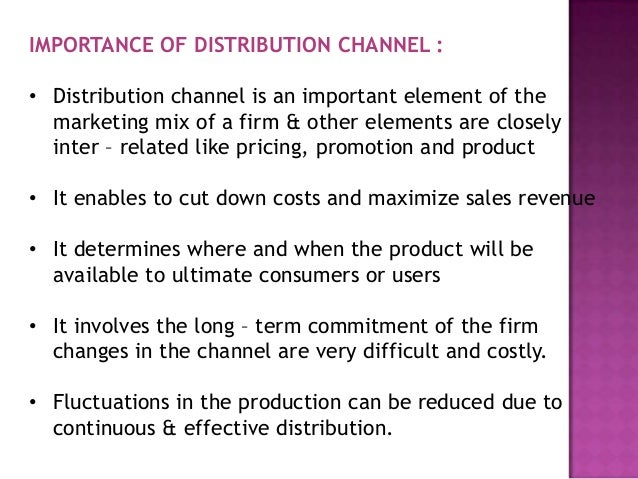 distribution marketing and channel Article shared by: in this article we will discuss about:- 1 definitions of channels of distribution 2 characteristics of channels of distribution 3.