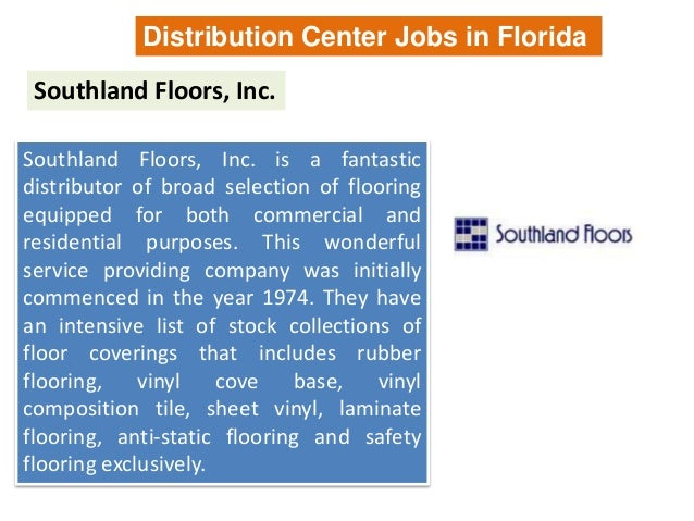 Distribution Jobs In Florida