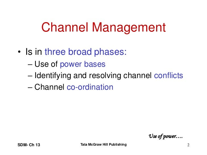 Channel Conflict Management