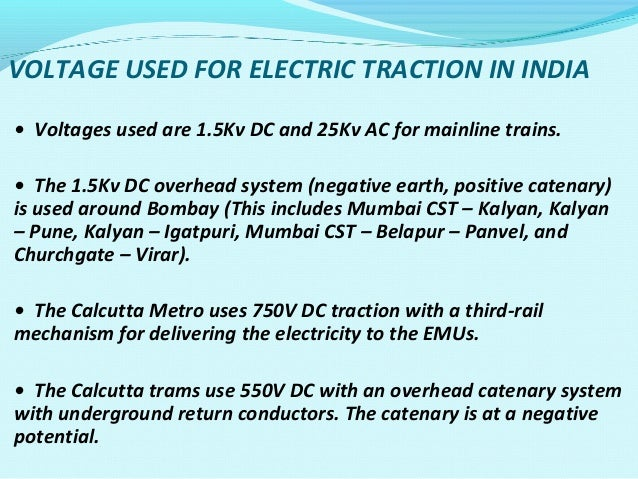Distribution Of Power Supply In Indian Railway