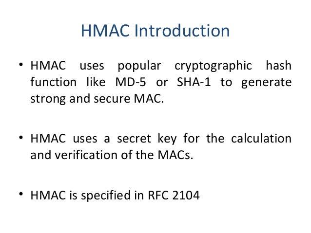 Distribution of public keys and hmac
