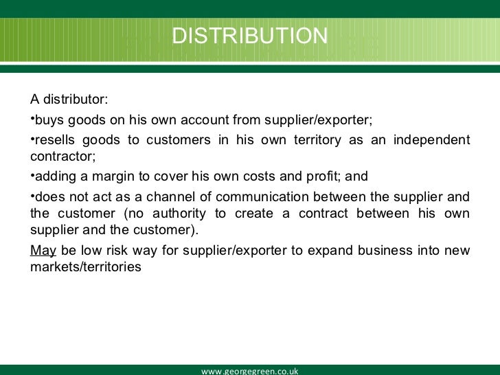 Distribution agreements platinumwayz