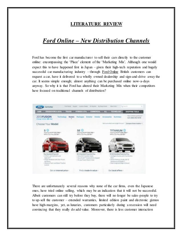 ford marketing strategy essays Free essay: marketin strategy in e-commerce marketing strategy and e-commerce introduction with the rapidly advancing technologies that are occurring in.