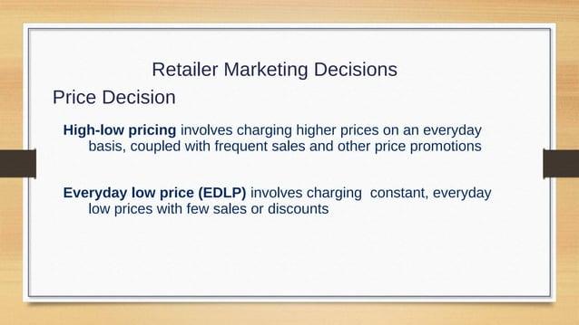 Retailer Marketing Decisions Promotion Decision