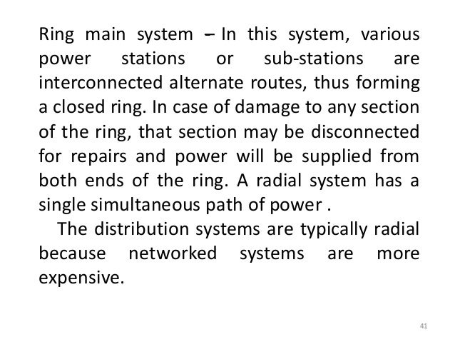 Distribution system 2 ring main system ccuart Image collections