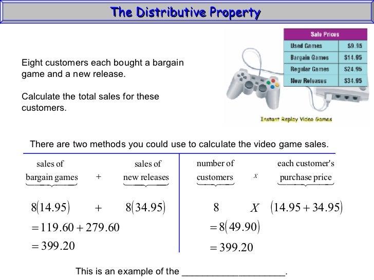 Distributive Property Algebra 1