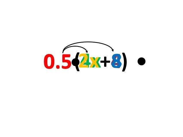 0.5•2x+4) •   (4x 8