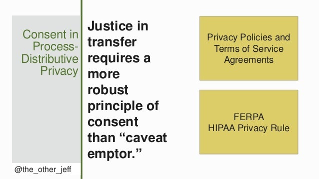 Consent in Process- Distributive Privacy @the_other_jeff Justice in transfer requires a more robust principle of consent t...