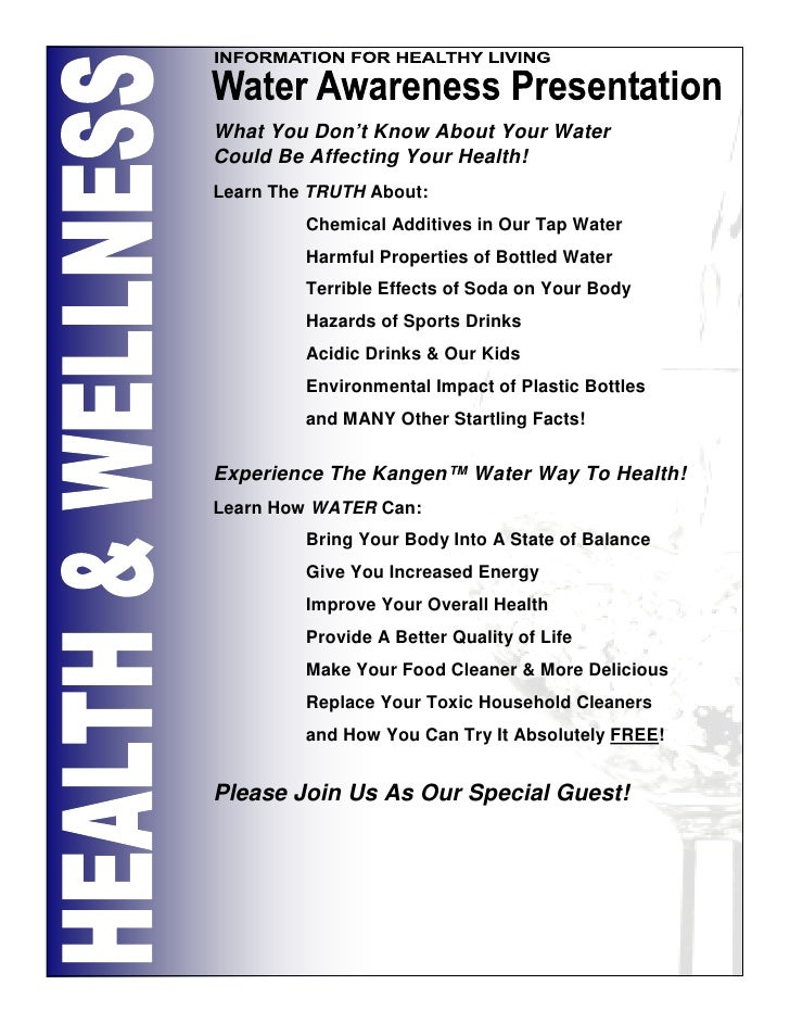 What You Don't Know About Your Water Could Be Affecting Your Health! Learn The TRUTH About:          Chemical Additives in...