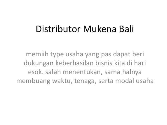 Distributor Mukena Bali